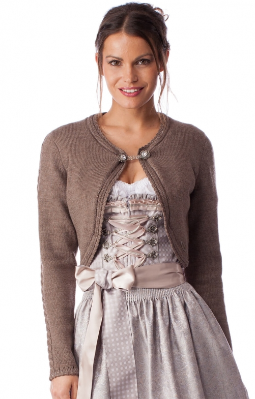Traditional Cardigan DILL brown